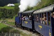 Unterwegs mit der Dampfbahn über den Furka. (Bild: Archiv/Neue UZ)