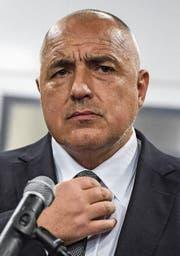 Sieger mit Sorgenfalten: Boiko Borissow, Chef der proeuropäischen Partei Gerb. Bild: Georgi Licowski/EPA (Sofia, 26. März 2017)