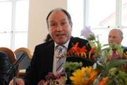 Der neugewählte Landammann Niklaus Bleiker bei seiner Ansprache. (Bild: Markus von Rotz/Neue OZ)