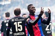 Basels Jungstar Breel Embolo hat das Interesse von grossen Klubs geweckt. Ob er gegen den FCL in der Startelf steht, ist noch unklar. (Bild: Keystone/Gian Ehrenzeller)