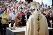 Eine Messe in Schüpfheim mit dem Bischof von Basel, Felix Gmür, im September 2011. (Bild: Pius Amrein/Neue LZ)