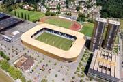 Der FC Luzern bestreitet am 17. Mai ein Testspiel gegen Borussia Mönchengladbach. (Bild Philipp Schmidli)