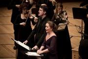 Barock-Star und Sänger-Entdeckung: die Solisten Philippe Jaroussky und Julia Lezhneva im KKL Luzern. (Bild: Manuela Jans / Neue LZ)