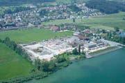Das Areal der Steinfabrik in Pfäffikon in einer Archivaufnahme. (Bild: Neue SZ)