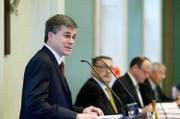 Thomas Lötscher, links, wird per Ende Jahr als Kantonsrat zurücktreten. (Bild: Archiv Neue ZZ)