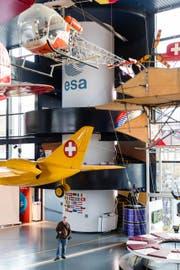 Blick in die neue Raumfahrtausstellung im Verkehrshaus. (Bild: Philipp Schmidli)
