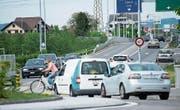 Verkehrssituation am Kreisel Forren in Rotkreuz. (Bild: PD)