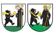 Das alte (links) und das neue Wappen der Gemeinde Kriens. (Bild: PD)