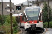 Die Zentralbahn bei der Station Hergiswil-Matt. Bis hier soll eine Doppelspur entstehen. ( (Archivbild: Robert Hess)