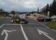 Die Unfallstelle in Hünenberg. (Bild: Zuger Polizei / PD)