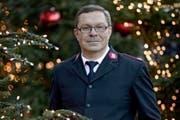 In den Weihnachtstagen besonders viel unterwegs: Samuel Rieder (46) von der Heilsarmee.