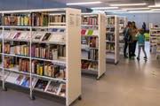 16'000 Medien liegen in der Gemeinde Bibliothek zum Ausleihen bereit. (Bild Benedikt Meier)