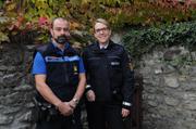Polizeihauptmeisterin Walker bei der Kantonspolizei Uri im Einsatz. (Bild Kantonspolizei Uri)