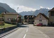 Im Dorfzentrum von Bürglen ist eine Tempo-30-Zone geplant. (Bild: Google Maps)