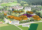 Die beiden Bauprojekte der Luzerner Psychiatrie in St. Urban. (Bild: Fabian-Feigenblatt-Fotografie/Grafik: Janina Noser)