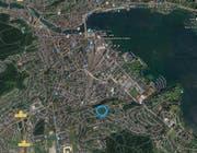 Lage der Siedlung Weinbergli innerhalb der Stadt Luzern. (Bild: PD)