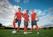 Wollen ihre Chance packen: Mauricio Willimann, Luca Jaquez und Bradley Fink (von links). (Bild: Philipp Schmidli (Nottwil, 18. September 2017))