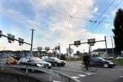 Der Seetalplatz in Emmenbrücke wird für 190 Millionen Franken umgebaut. (Bild: Corinne Glanzmann / Neue LZ)