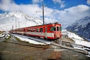 Auf den Trassen der Matterhorn-Gotthard-Bahn wird saniert. (Bild: Corinne Glanzmann)