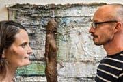 Yvonne Kurtovic-Hegglin und Bruno Juch stellen in Menzingen aus. (Bild: Christian H.Hildebrand)