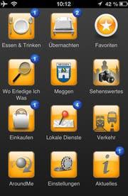 Übersichtsseite der City App Meggen. (Bild: Screenshot PD)