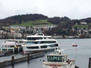 Das MS Diamant wurde nach Luzern gebracht. (Bild: Flurina Valsecchi)