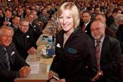 Bettina Bucher an der Versammlung des Schützenvereins. (Bild: pd)