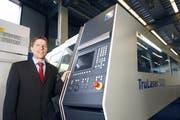 Hans Marfurt, Geschäftsführer der Trumpf Maschinen AG. (Bild Stefan Kaiser/Neue ZZ)