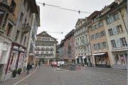 Der Überfall ereignete sich am Weinmarkt in der Luzerner Altstadt. (Bild: Maps Google)