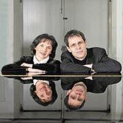 Das Luzerner Klavierduo Adrienne Soós und Ivo Haag. (Bild: PD)
