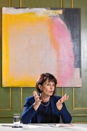 Bundesrätin Doris Leuthard (53). Bild: Philipp Schmidli (Bern, 10. Mai 2016)