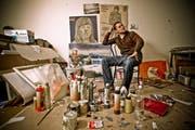 Luca Schenardi in seinem Atelier in Luzern. (Bild Philipp Schmidli/Neue LZ)
