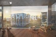 Von den Mehrfamilienhäusern des Projekts Neuschwand werden wohl weniger gebaut als ursprünglich geplant. (Bild: Visualisierung: PD)