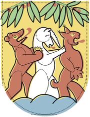 Das Wappen der Einheitsgemeinde? Der Chomer Bär, das Hünenberger Einhorn und der Rischer Luchs sehen ihrer möglichen Vereinigung positiv entgegen. (Bild: Lea Siegwart)
