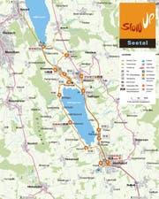 Der Streckenplan des Slowup Seetal Ausgabe 2016 (Bild PD)