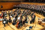 Klangwerk Luzern brachte, mit Unterstützung des Barockorchesters Capriccio, alttestamentarische Wucht grossartig zu Geltung. (foto: roger gruetter) (Bild: Roger Grütter)