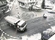 das Provisorium im Dezember 1987. (Bild: Staatsarchiv Luzern/Guido Uebelhard)