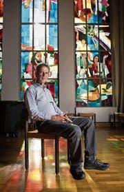 Fritz Gloor in der Lukaskirche Luzern.