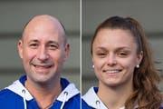 Die beiden Headcoachs bleiben Volley Top Luzern für zwei weitere Jahre erhalten: Dario Bettello, Trainer der Damen und Lauren Bertolacci, Trainerin der Herren. (Bild: Dominik Wunderli / Neue LZ)