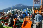 Die alle 2 Jahre stattfindende Fachmesse bietet eine in der Schweiz einzigartige Marktübersicht aller Facetten der Waldpflege und Holzproduktion. (Bild: PD)