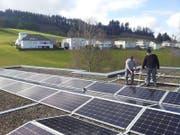 Die Genossenschaft Energie Willisau wurde im November 2016 gegründet und konnte bereits im Frühling 2017 die erste Anlage einweihen. (Bild: PD)
