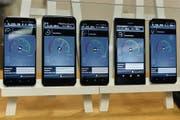 Download-Tests und Messungen für das zukünftige Highspeed-Netz 5G in Zürich. (Bild: Walter Bieri/KEY)