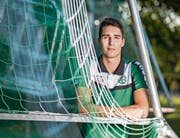 Kevin Sigrist, auf dem Steinhauser Eschfeld, spielt seit den F-Junioren in Grün-Weiss. (Bild: Patrick Hürlimann (21. September 2017))