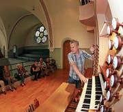Hans-Jürgen Studer ist seit 1989 der Organist der reformierten Kirche in Zug. (Bild: Roger Zbinden (17. Juni 2017))