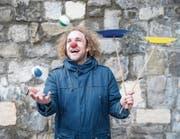 Als Clown will Kurt Bucher bald auch Flüchtlingskindern ein Lachen ins Gesicht zaubern. (Bild: Manuela Jans-Koch (Sursee, 26. Januar 2018))