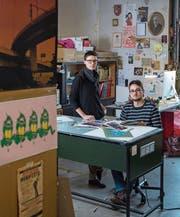 Anja Wicki und Andreas Kiener in ihrem Luzerner Atelier. (Bild: Boris Bürgisser (Luzern, 21. Februar 2017))