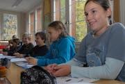 Viertklässler der Schule Spiringen. (Bild Elias Bricker/Neue UZ)