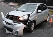 Eines der am Unfall beteiligten Fahrzeuge. (Bild: Luzerner Polizei)