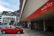 Auch hier gibt es ab sofort Mercedes A-Klasse Wagen zu mieten: Am Mobility-Hauptsitz an der Gütschstrasse in Luzern. (Symbolbild) (Bild: Neue LZ)