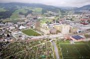 Bis Anfang 2019 wird das Mattenhof-Areal überbaut. Im Erdgeschoss entstehen Läden, darüber Büros und Wohnungen. Das Hotel soll bereits 2018 eröffnet werden. (Bild: Visualisierung / pd)